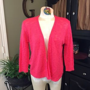 United States Sweaters Coral Open Cardigan Size M